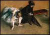 Балерина и женщина с зонтом