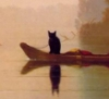 Black Cat On Boat