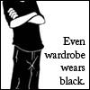 wardrobe wears black