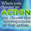 a choosing action = consequences bujold