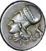 Серебряный статер Коринфа386-307 гг. д