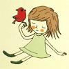 girl: girl & bird