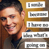 Wormholes only go one way: dean_smile