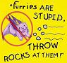 rocks, furry