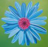 indie: blue daisy