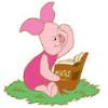 piglet reading