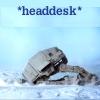 star wars AT-AT headdesk