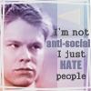Hannah: QAF Justin Hates People