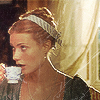 Emma drinking coffee