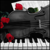 Music: Violin and Red Roses - so pretty