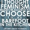 Feminism...