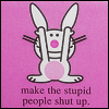 Internal Locust of Control: happy bunny stupid people