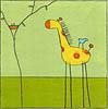 giraffe, kids art