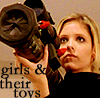 girls and their toys