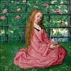maria in garden