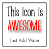 awesome icon - add water