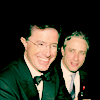 AB: colbert; with jon at the emmys