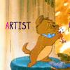 [Disney] kitty is an artist