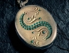 Crystal: slytherin locket