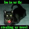 Oooh! Lint!, Demonic Cat, Felis Catus Demonica, Stealing Your Towel