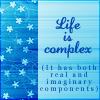 math: life is complex