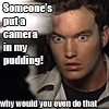 ianto, horrified, pudding