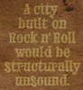 A city built on rock and roll