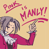Pink is manly!