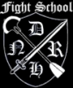 Fight School logo B-W