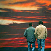 never trust a big butt and a smile: dean and sam sunset