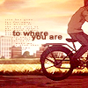 takemoto, bike, sunset