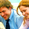 Jim and Pam gigglin'