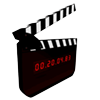 video, youtube, timing, clapperboard, action