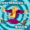 X-parrot: wormholes suck