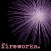 purple, fireworks