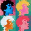 Comics{Blue pop art}