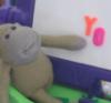 monkey baby spelling out YO
