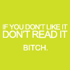 Don't like it, don't read it