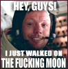 A One-Way Ticket to Laughtertowne, USA: HAY I'M ON THE MOON LOL