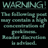 Geek Warning