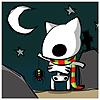 кот-скелет