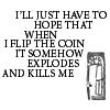 coin explodes