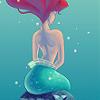 little mermaid from behind