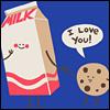 печенье, молоко