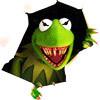 psychotic muppet, evil kermit