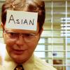 Dwight is Asian