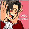 Edgeworth loves shoes