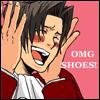 Edgeworth loves shoes