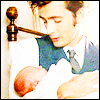 rupert with his baby omg