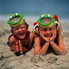 children at the beach